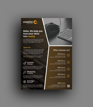 Rome Elegant Professional Business Flyer Template