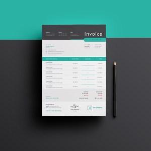 Sleek Professional Corporate Invoice Template