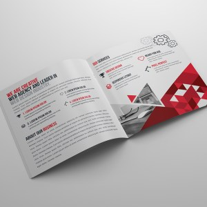 Stylish Business Bi-Fold Brochure Template