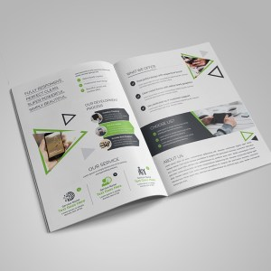 Topaz Corporate Bi-Fold Brochure Template