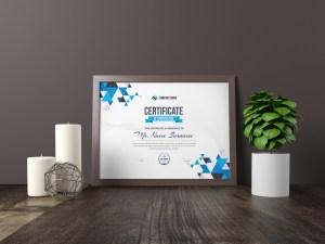 Triangle Elegant Professional Certificate Template