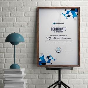 Triangle Professional Portrait Certificate Template