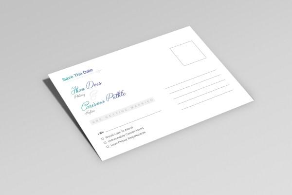 Uranus Creative Elegant Wedding Postcard Template