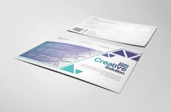 Uranus Professional Stylish Postcard Template
