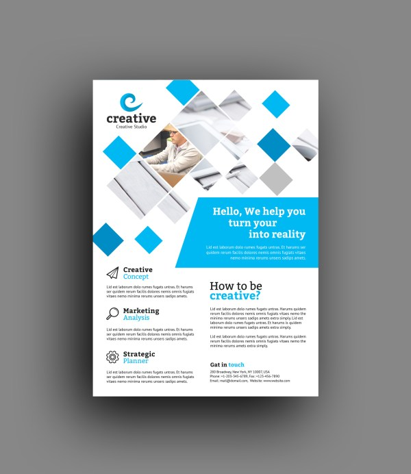Venice Elegant Professional Business Flyer Template