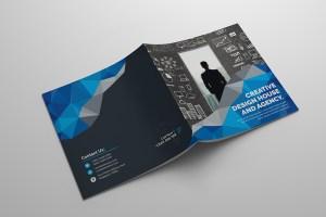 Vision Square Bi-Fold Corporate Brochure Template
