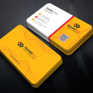 Yellow Elegant Business Card Template