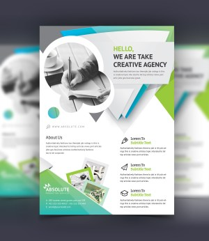 Zelus Stylish Professional Corporate Flyer Template