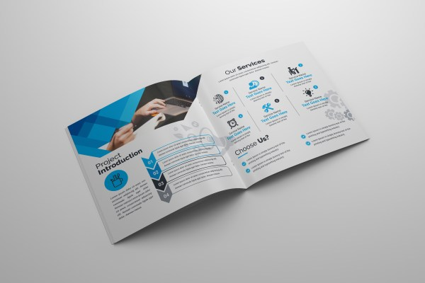 Zeus Corporate Square Bi-Fold Brochure Template