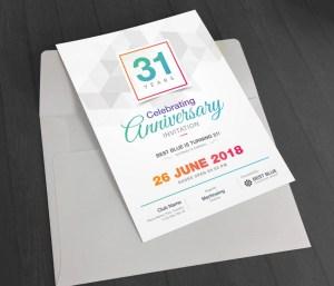 Zeus Elegant Anniversary Invitation Template
