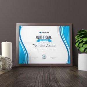 Zeus Landscape Certificate Template