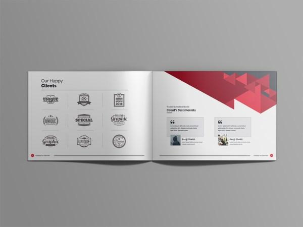 Zeus Professional 24 Pages Landscape Magazine Template