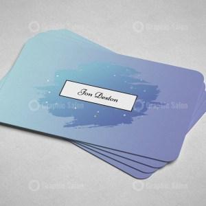 Purple Minimal Business Card