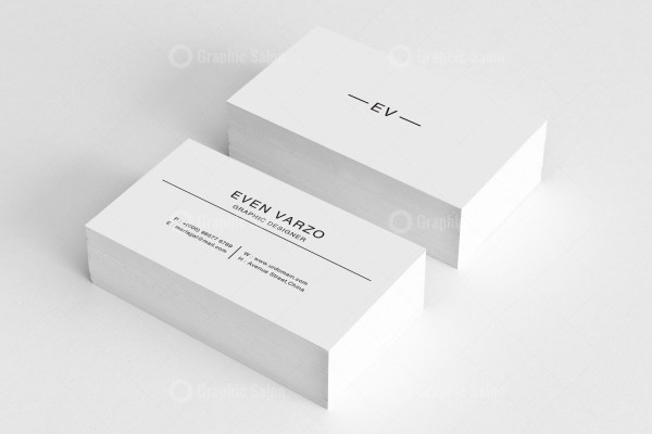 Black White Business Card Templates 1