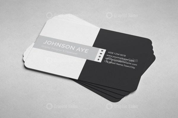 Checkered Visiting Card Templates 3