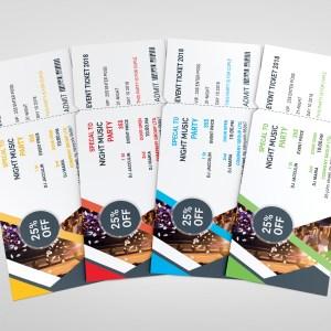 PSD Classy Ticket Template