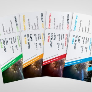 PSD Creative Ticket Template
