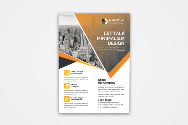 PSD Minimal Flyer Design