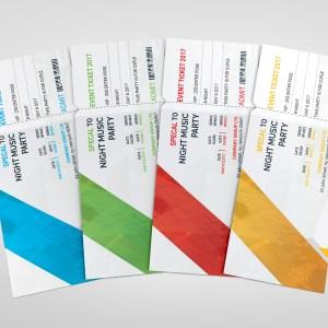PSD Modern Ticket Template