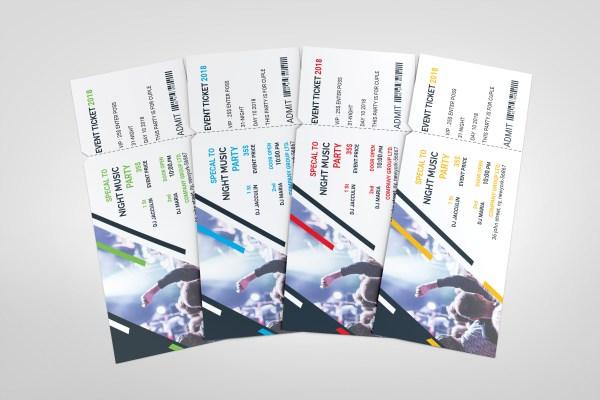PSD Music Ticket Template