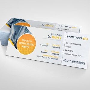 PSD Sleek Ticket Template