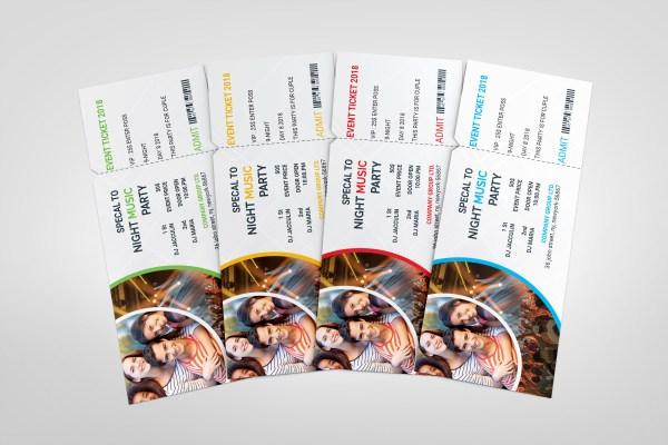 PSD Stylish Ticket Template