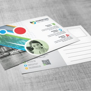 PSD Multi Color Postcard Template