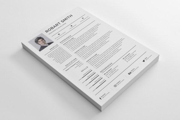 Simple Print Resume Template