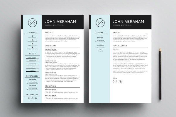 Sleek Resume Design Template