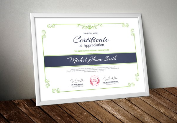 Stylish Certificate Design Templates