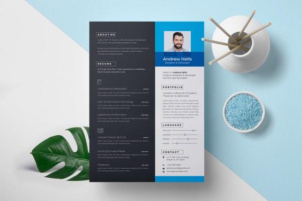 A4 Stylish Resume Template