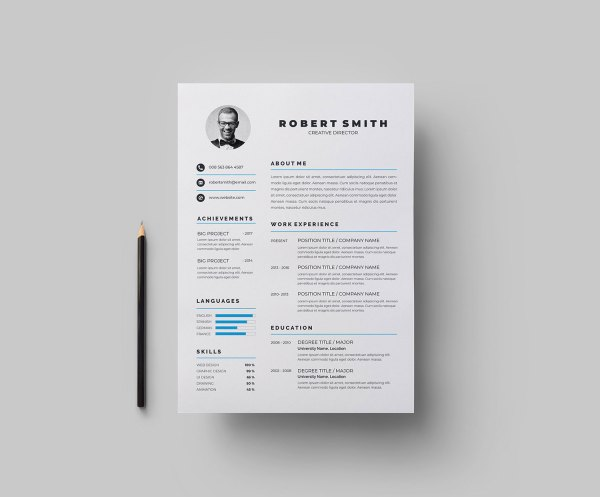 Clean Vector Resume Template