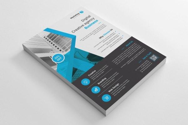 Creative A4 PSD Flyer Template