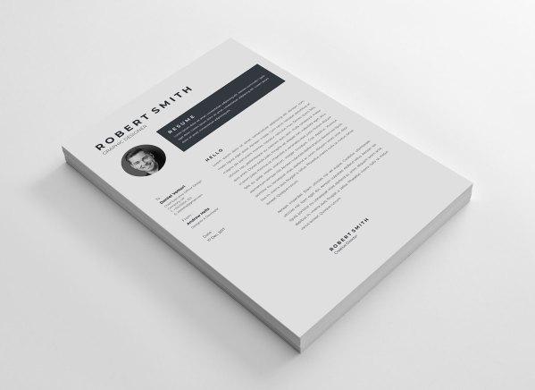 Plain Vector Resume Template