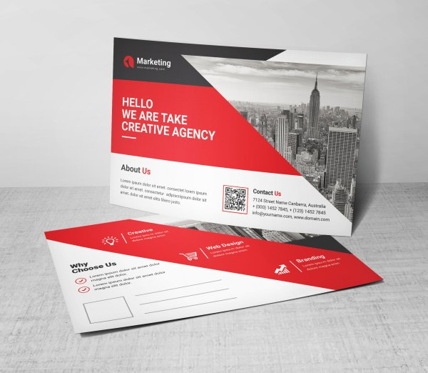 PSD Elegant Postcard Templates
