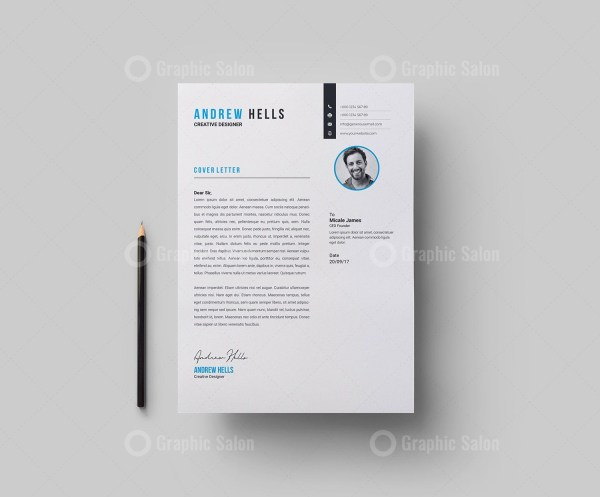 Stylish Vector Resume CV Design