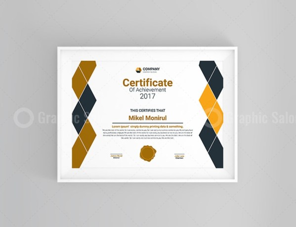 Diamond Certificate Template