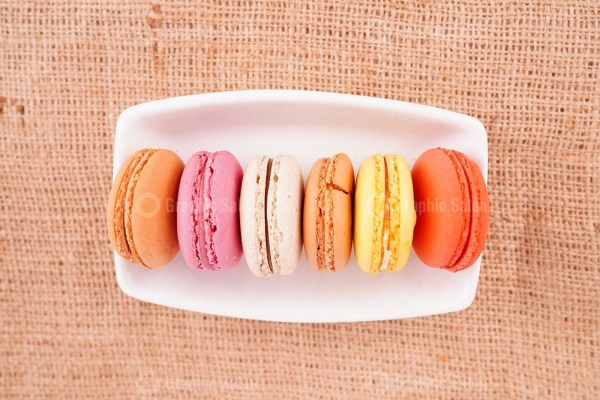 Composition of delicious macaroons