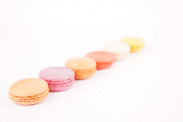 Sweet and colorful french macaroons