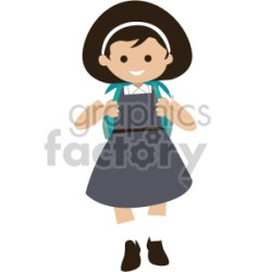 girl walking to school clipart Commercial use GIF JPG PNG EPS SVG AI PDF clipart # 408389 Graphics Factory