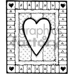 black white heart design clipart Commercial use GIF JPG PNG EPS SVG AI PDF clipart # 405180 Graphics Factory