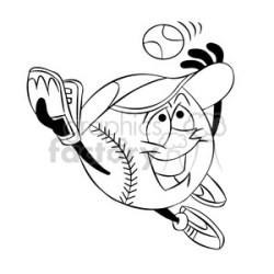 outfielder clipart Royalty Free Images Graphics Factory