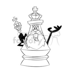 cartoon chess piece character king black white clipart Commercial use GIF JPG PNG EPS SVG AI PDF clipart # 397911 Graphics Factory