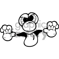 black and white cartoon face sticking tongue out clipart Commercial use GIF JPG PNG EPS SVG AI PDF clipart # 405341 Graphics Factory