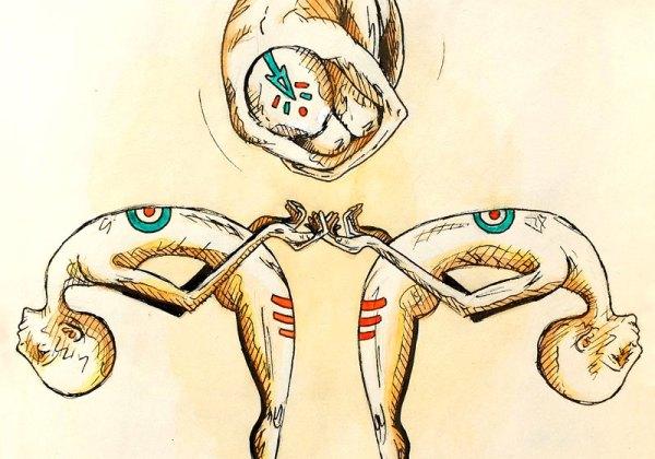 dessin illustration corps humains couleurs chaudes surrealisme