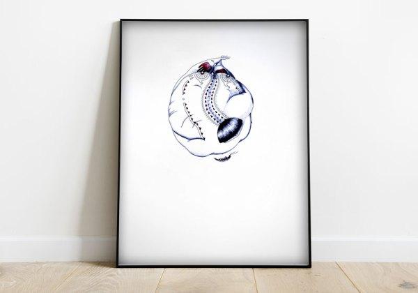 dessin figuratif abstrait surrealiste forme ronde minimaliste