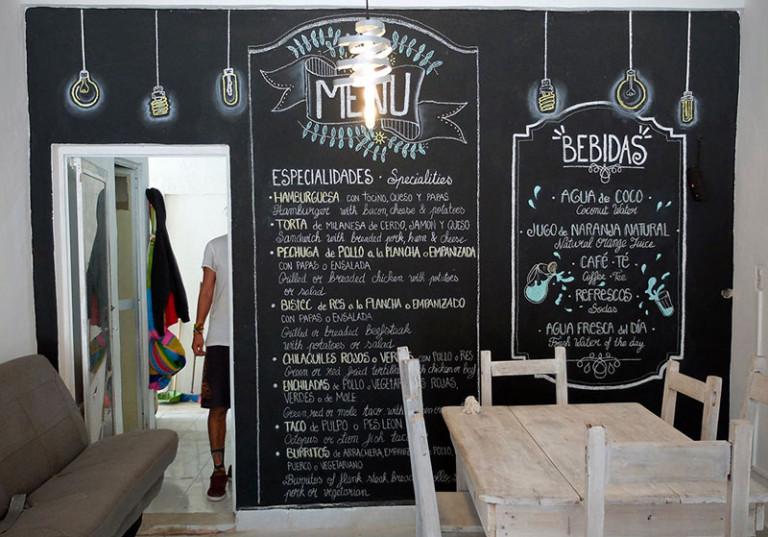 realisation art vintage menu craie boisson restaurant