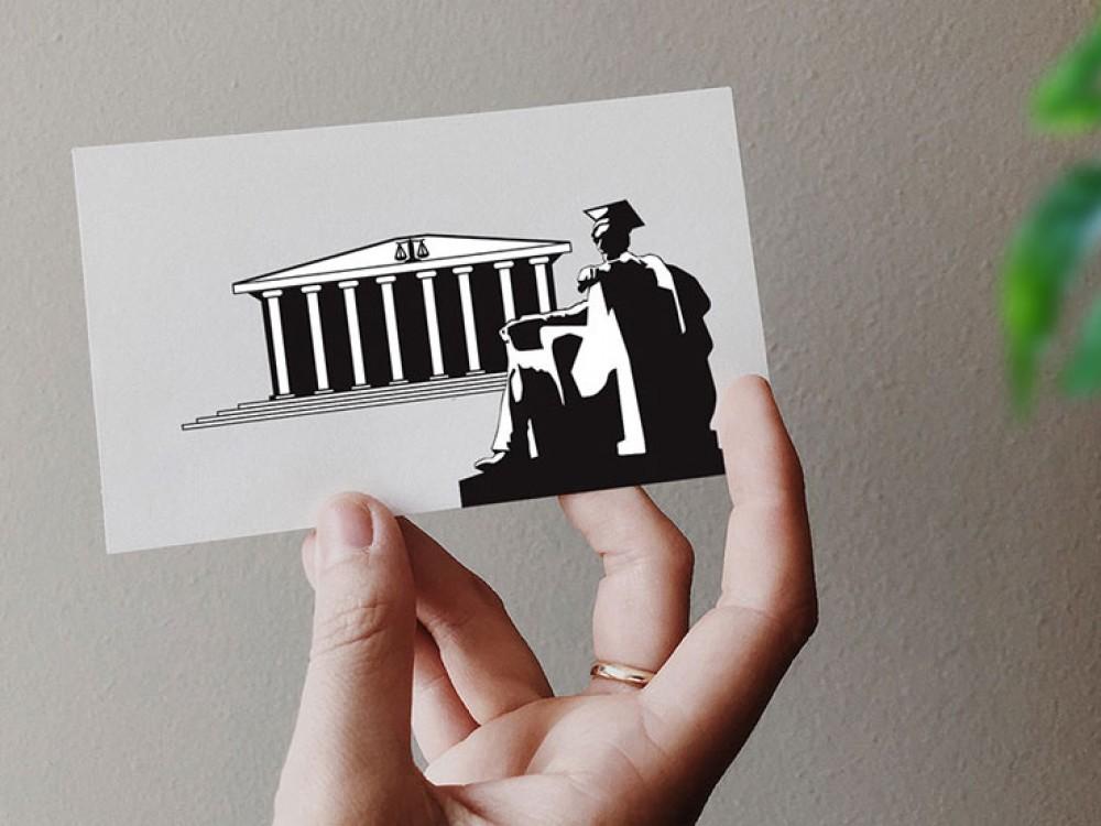 logo et carte de visite pour avocat