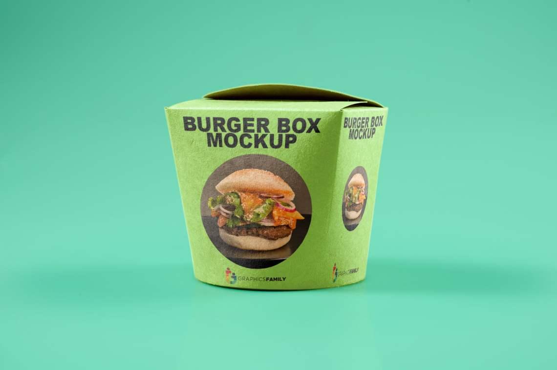 Download Free Burger Box PSD Mockup - GraphicsFamily
