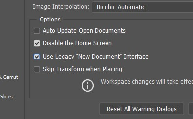 use legacy new doc interface